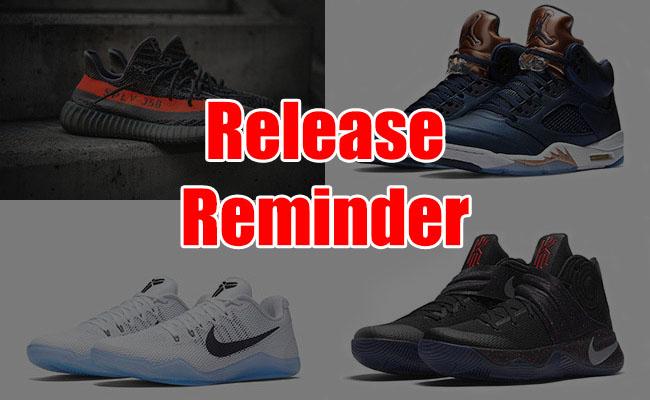 Sneakers Release September 22 24 2016
