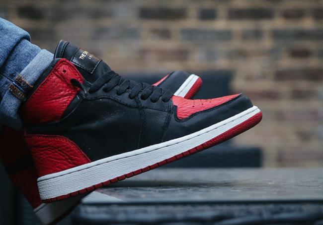 Swooshless Air Jordan 1 Banned Custom The Shoe Surgeon