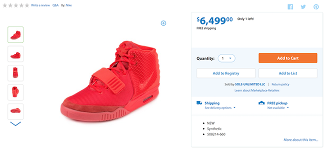 Walmart Red October Nike Yeezy 2