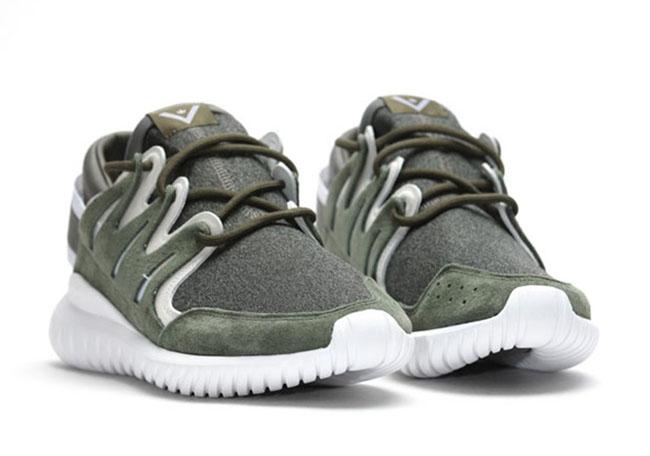 White Mountaineering x adidas Tubular Nova Olive Green