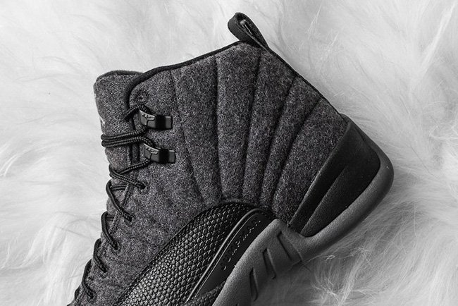 Wool Air Jordan 12 Dark Grey