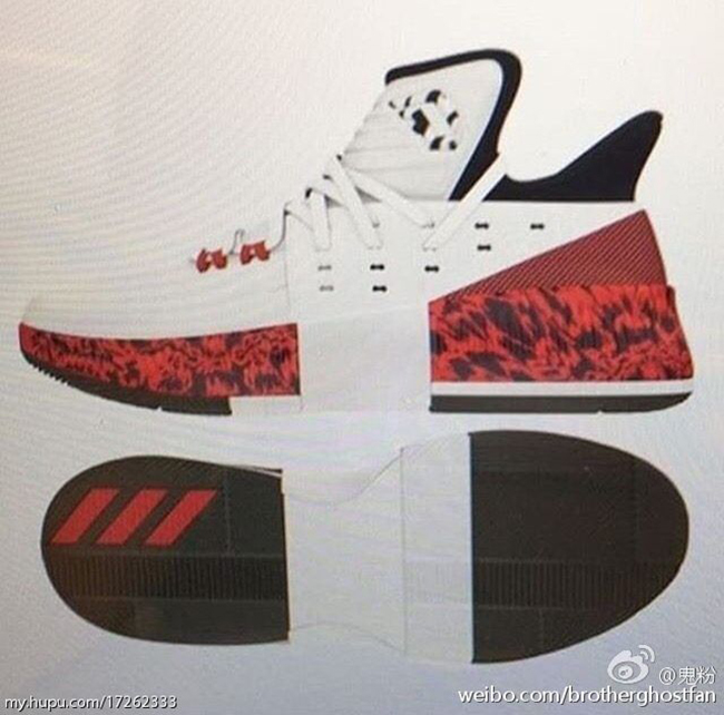 newest 2e9b3 bc8f1 ... 50% off adidas d lillard 3 white red ab51b 5a909