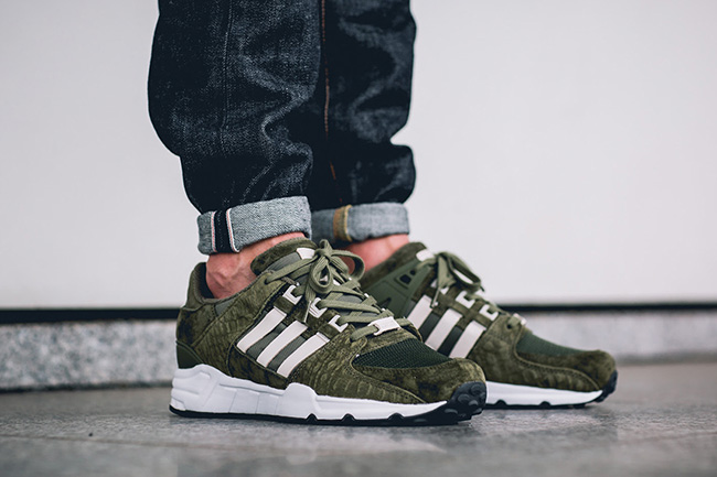 adidas EQT Running Support 93 Croc Pack Olive Cargo