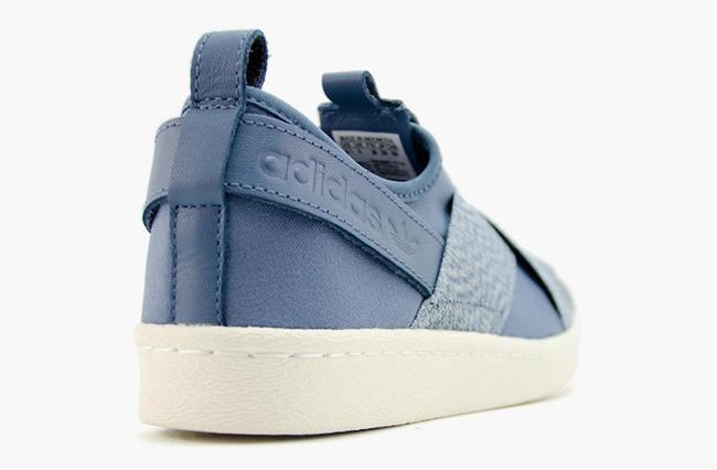 Adidas Superstar Resbalón En Los Zapatos Azules qiniz
