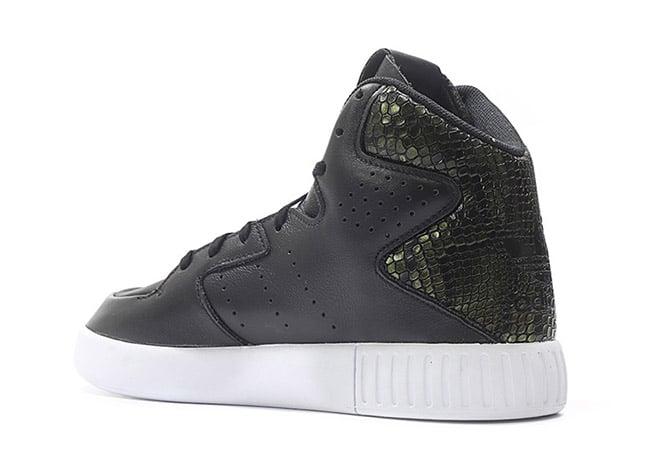 adidas tubular invader black and white
