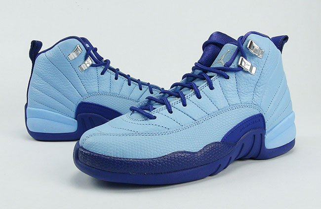 Air Jordan 12 Kids White Dark Blue shoes