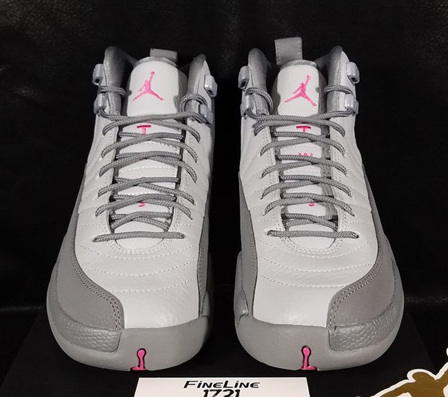Air Jordan 12 GS Vivid Pink Grey
