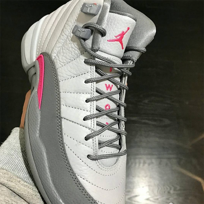 Air Jordan 12 GS Vivid Pink Wolf Grey Cool Grey