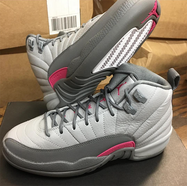 the best attitude e9438 2ce87 Air Jordan 12 GS Vivid Pink Wolf Grey Cool Grey