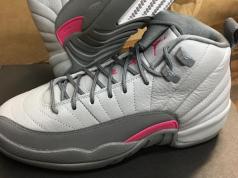 Air Jordan 12 GS Vivid Pink Wolf Grey Cool Grey