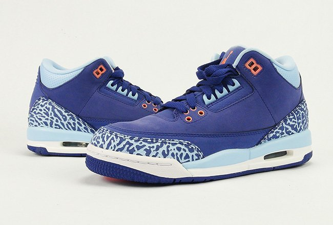 Air Jordan 3 GS Dark Purple Dust Blue Cap Review On Feet