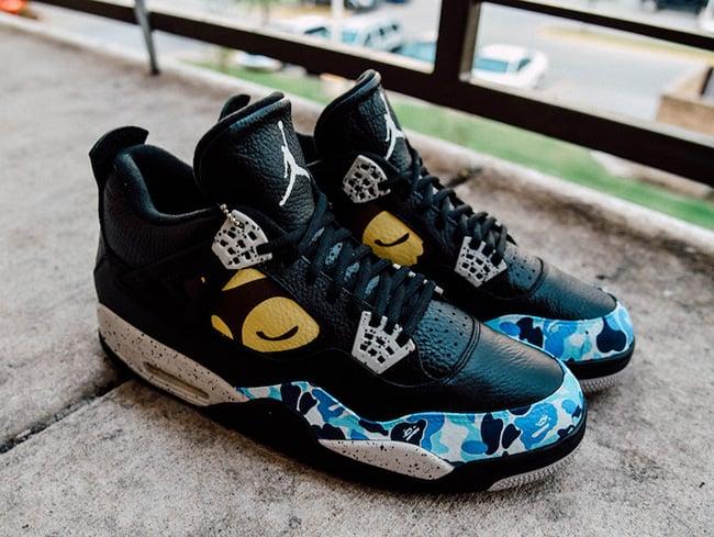 the latest 39b1f 811ec Air Jordan 4 Bape Custom | SneakerFiles