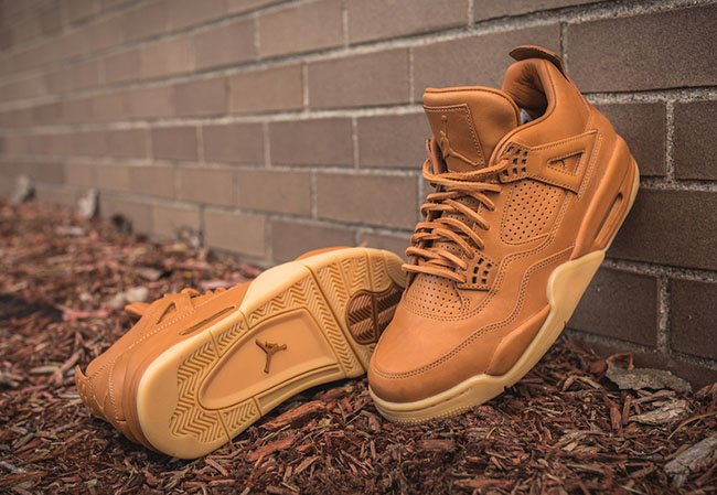 where to buy best choice factory outlet Air Jordan 4 Premium Ginger Wheat Gum Yellow | SneakerFiles