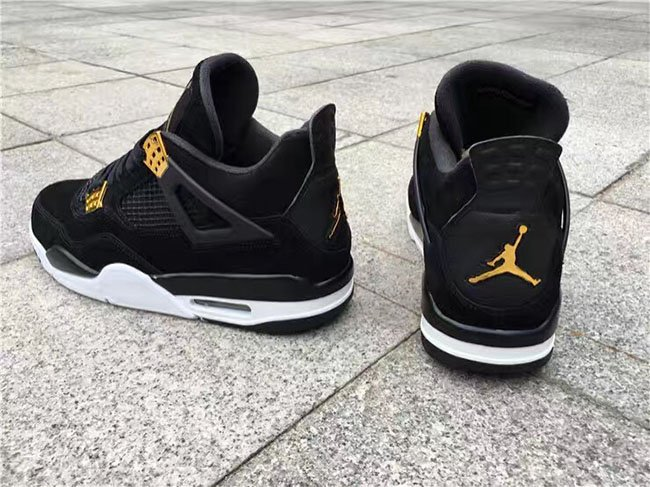 aaef595e3bb3 Air Jordan 4 Royalty Black Metallic Gold 2017