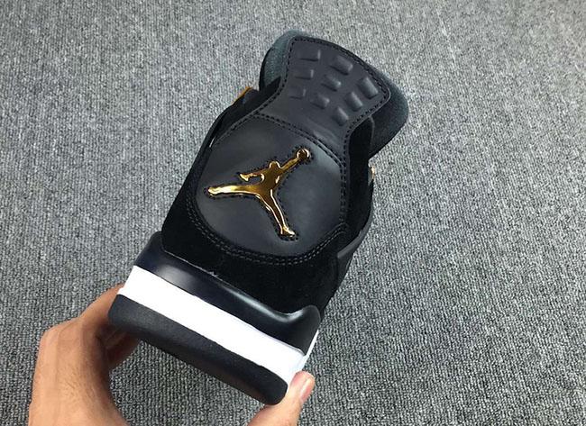 Air Jordan 4 Royalty Black Metallic Gold 2017