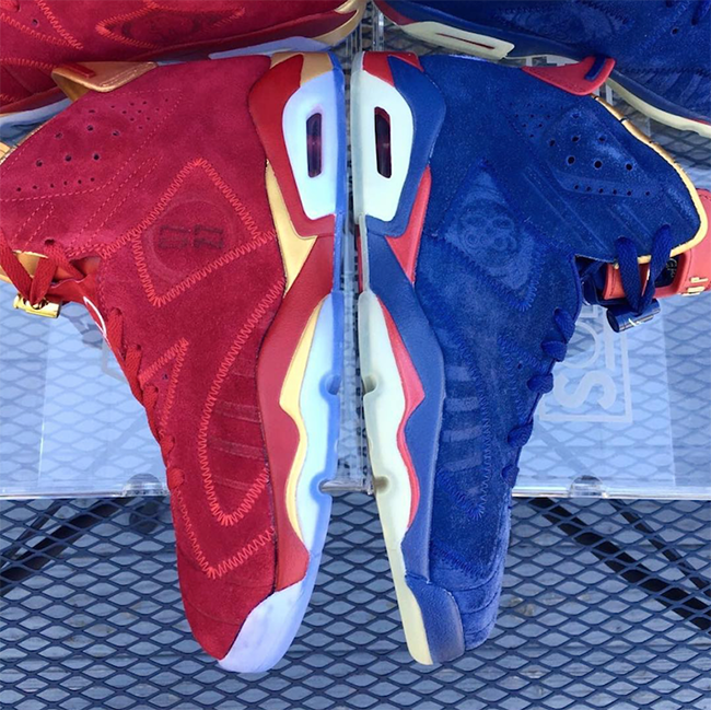 Air Jordan 6 Blood Red Doernbecher Custom