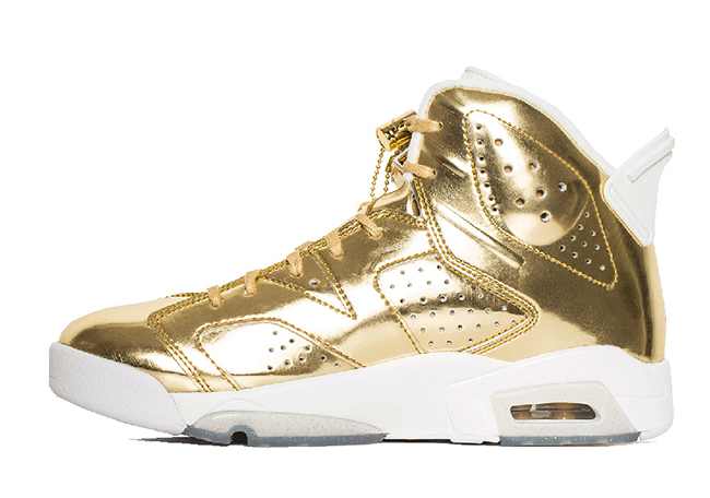 Air Jordan 6 Retro Pinnacle Metallic Gold Hangtag