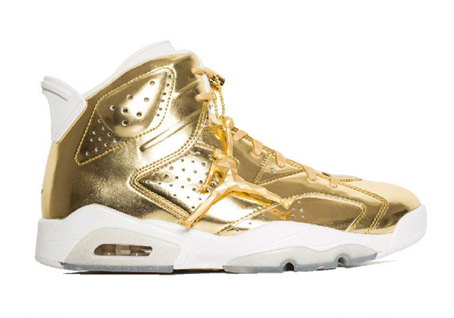 new product a1fd0 77e03 Air Jordan 6 Pinnacle Metallic Gold | SneakerFiles