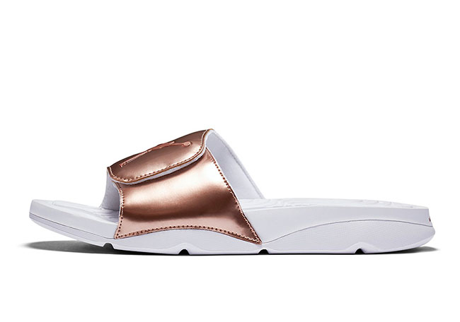Air Jordan Hydro 5 Pinnacle Bronze Slides October 2016