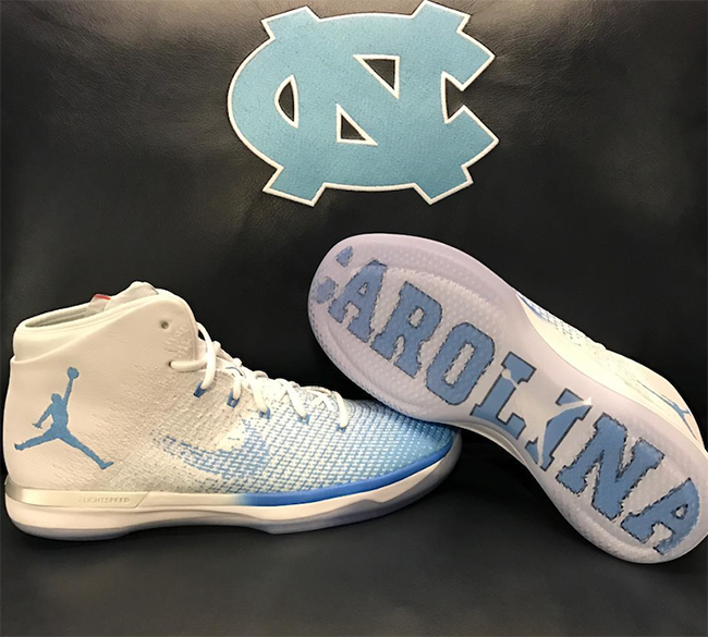 Air Jordan XXX1 UNC North Carolina Tar Heels
