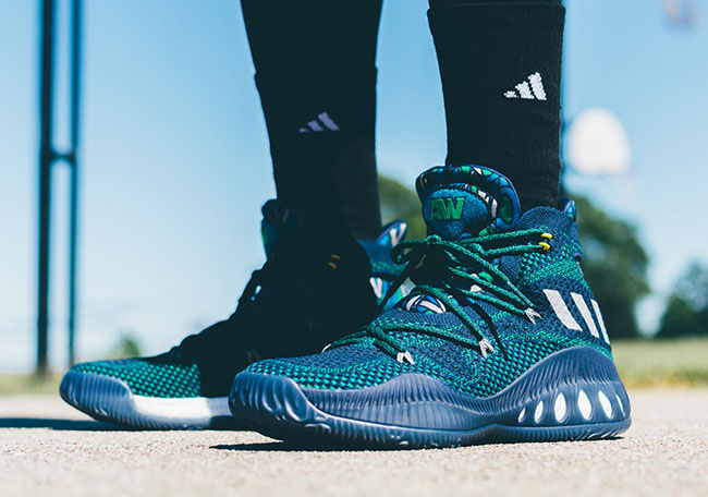 5919bd30556b 60%OFF How the adidas Crazy Explosive Andrew Wiggins Away Looks On Feet