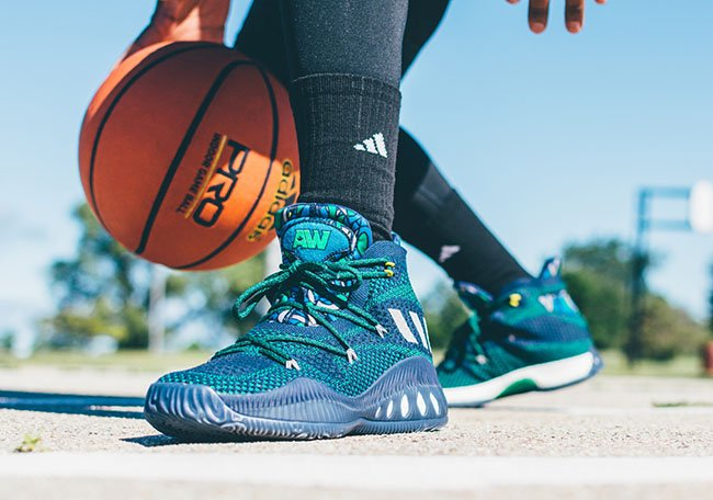 online store 9caea d2ae4 low-cost How the adidas Crazy Explosive Andrew Wiggins Away Looks On Feet