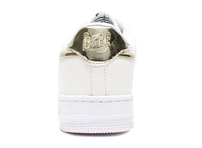 Bathing Ape Bapesta Gold Silver Metallic Foil Pack