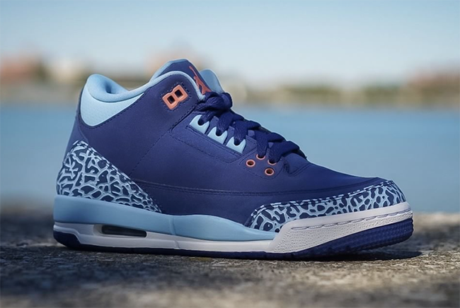 Blue Cp Air Jordan 3 GS Purple Dust