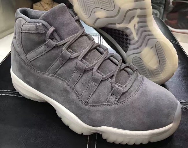 Jordan 11 Cool Grey Suede