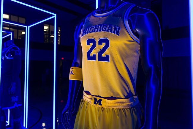 new style a0522 29b6b Jordan Michigan Basketball