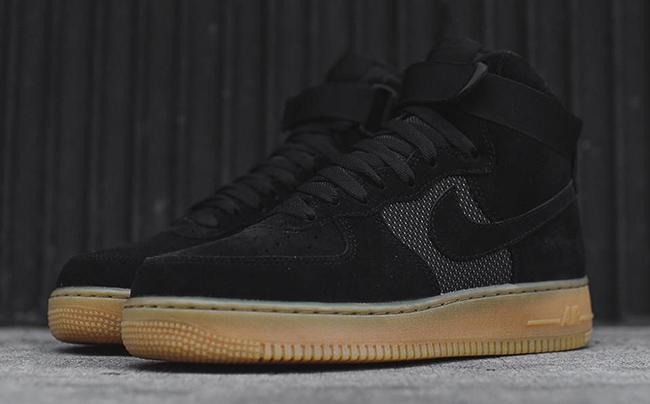 Nike Air Force 1 High Black Gum 806403-003