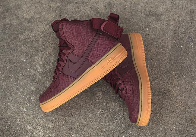 Nike Air Force 1 High Night Maroon Gum