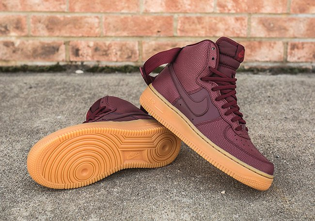 4a85f185c3de3 Nike Air Force 1 High Night Maroon Gum