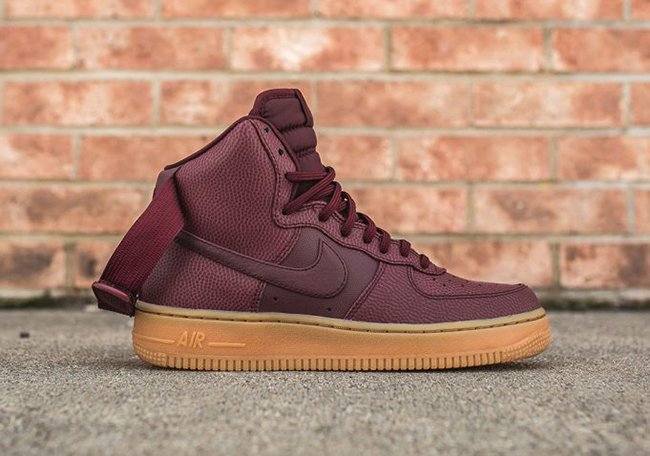 Nike Air Force 1 High Night Maroon Gum