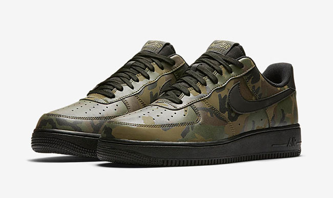save off 2393e a004f Nike Air Force 1 Low Reflective Green Camo ...