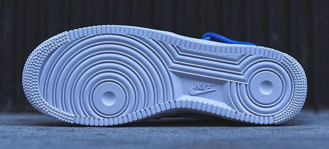 Nike Air Force 1 Mid Bianco Blu xnlhE8x3v