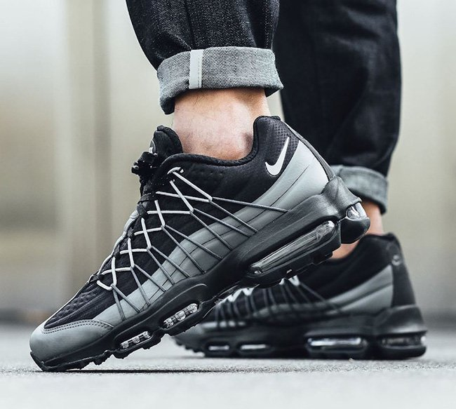 Nike Air Max 95 Ultra Se Black Grey 845033 002 Sneakerfiles