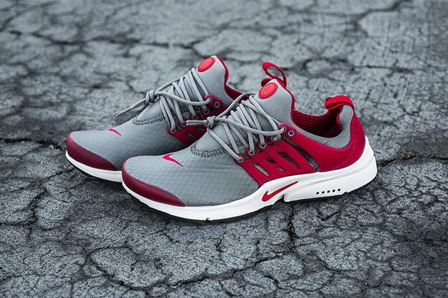 Nike Air Presto Essential Cool Grey Gym Red  d1ba08a55c1a