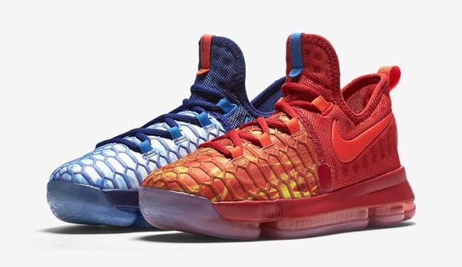 Nike KD 9 Fire Ice Release
