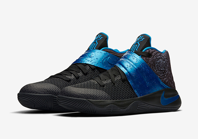 Acurrucarse Molester Noble  Nike Kyrie 2 GS Wet Black Royal Blue Release Date | SneakerFiles