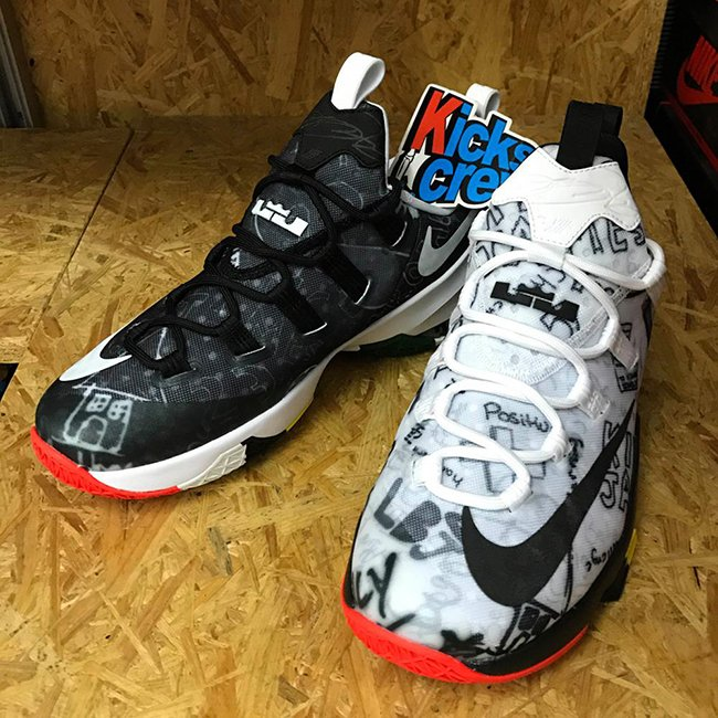 Nike LeBron 13 Low Graffiti Black White