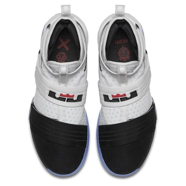 new product fc6f9 fd844 Nike LeBron Soldier 10 Black Toe