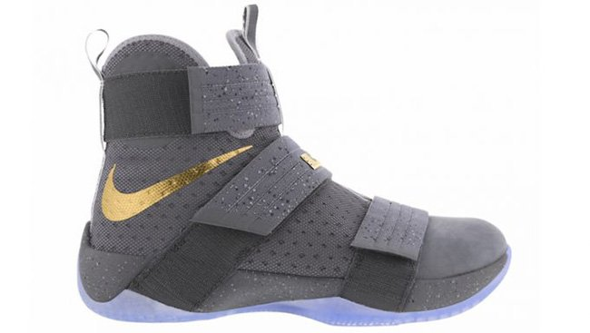 Nike LeBron Soldier 10 Cool Grey Gold