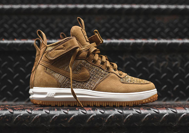 check out 64155 c373d Nike Lunar Force 1 Flyknit Wheat