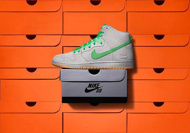 Nike SB Dunk High Premium Gray Silver Box