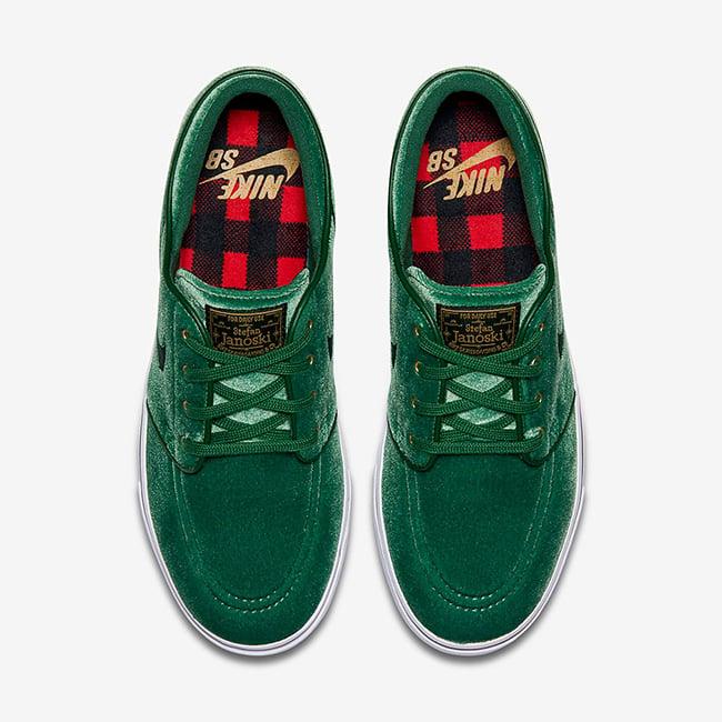 Nike SB Stefan Janoski Green Velvet Christmas