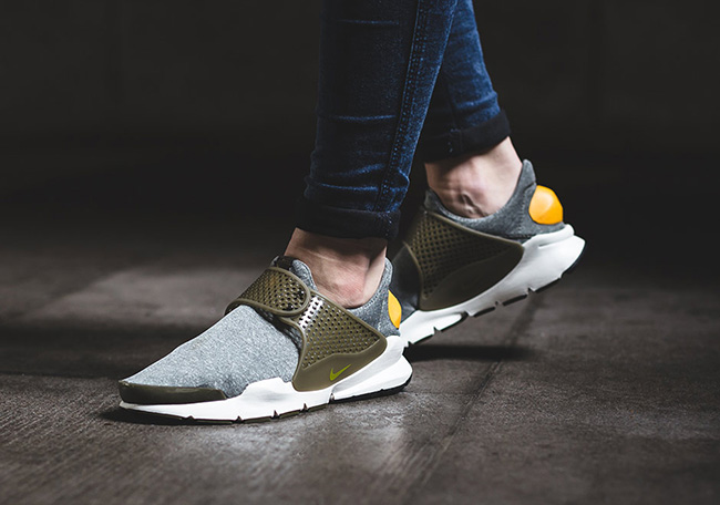 Nike Sock Dart in Dark Loden Gold Leaf
