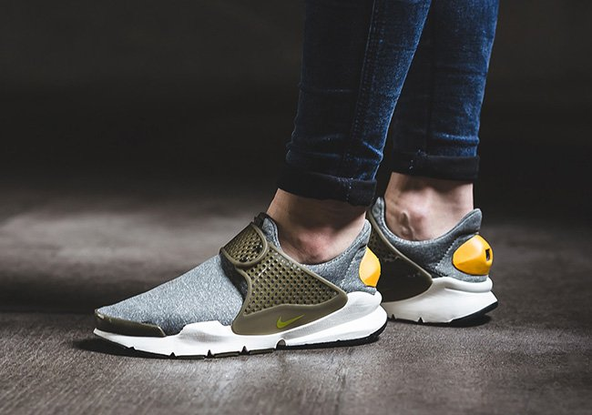 competitive price c8de8 79449 Nike Sock Dart in Dark Loden Gold Leaf