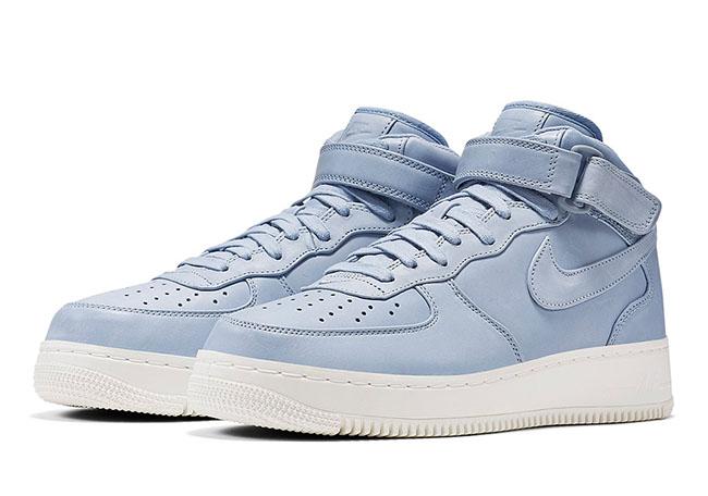 NikeLab Air Force 1 Mid October 2016 Blue Grey