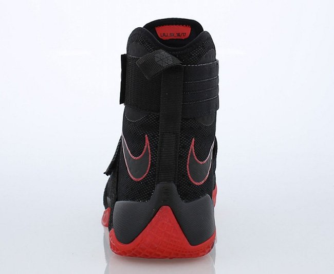 Ohio State Nike LeBron Soldier 10 Bred Black Red